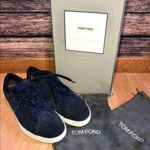 Tom Ford Russel Suede Leather Sneakers Shoes